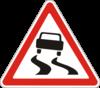 Дорожный знак 1.13 Скользкая дорога