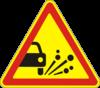 Дорожный знак 1.14 Выброс каменных материалов