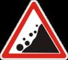 Дорожный знак 1.16 Падение камней
