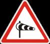 Дорожный знак 1.17 Боковой ветер