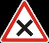 Дорожный знак 1.21 Перекресток равнозначных дорог