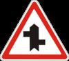 Дорожный знак 1.23.3 Прилегание второстепенной дороги