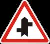 Дорожный знак 1.23.4 Прилегание второстепенной дороги