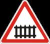 Дорожный знак 1.27 Железнодорожный переезд со шлагбаумом