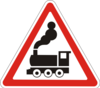 Дорожный знак 1.28 Железнодорожный переезд без шлагбаума