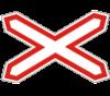 Дорожный знак 1.29 Одноколейная железная дорога