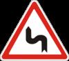 Дорожный знак 1.3.2 Несколько поворотов