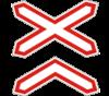 Дорожный знак 1.30 Многоколейная железная дорога