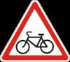 Дорожный знак 1.34 Выезд велосипедистов