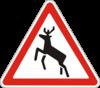 Дорожный знак 1.36 Дикие животные