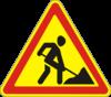 Дорожный знак 1.37 Дорожные работы