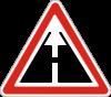Дорожный знак 1.40 Конец дороги с усовершенствованным покрытием
