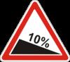 Дорожный знак 1.7 Крутой спуск