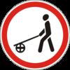 Дорожный знак 3.10 Движение с ручными тележками запрещено