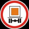 Дорожный знак 3.12 Движение транспортных средств, которые перевозят опасные грузы, запрещено