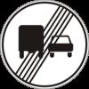 Дорожный знак 3.28 Конец запрета обгона грузовым автомобилям
