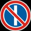 Дорожный знак 3.36 Стоянка запрещена в нечетные числа месяца