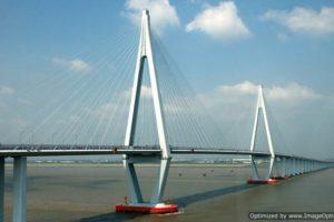 Самый большой трансокеанский мост через залив Ханчжоувань (Китай)