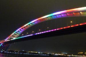 Лупу – самый длинный стальной арочный мост во всем мире (Китай)