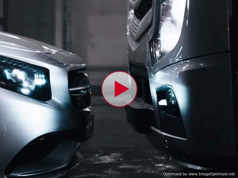 Видео от Mercedes: грязные танцы шикарного Actros и динамичного S 63 AMG