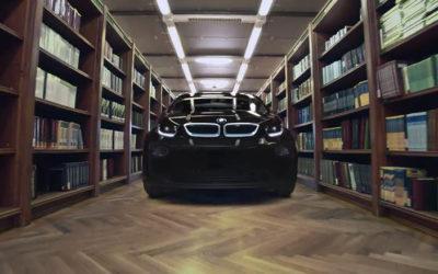 В библиотеку на новеньком BMW i3