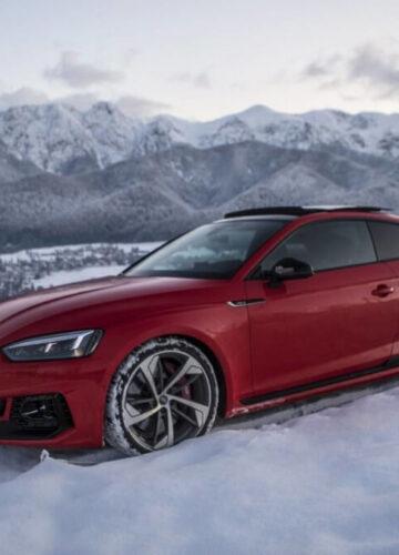 Audi RS5 и Audi R8 V10 Plus: тест в заснеженных горах