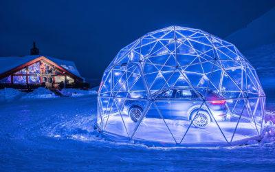 В Альпах открыли автосалон Porsche