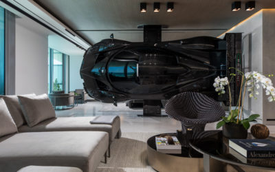Pagani Zonda R в интерьере квартиры