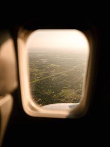 Вид из окна летающего таски